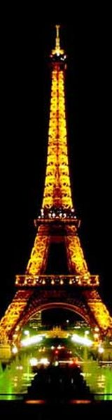 Eiffel Tower in Paris France - 1889 - Height: 1,063 feet (324 m)