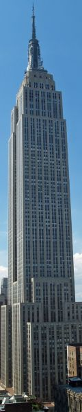 Empire State Building in New York City, NY - Height: 1,250 feet tall