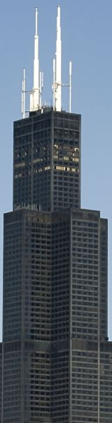 Willis Tower in Chicago Illinois - Height: 1,450 feet (442 m)